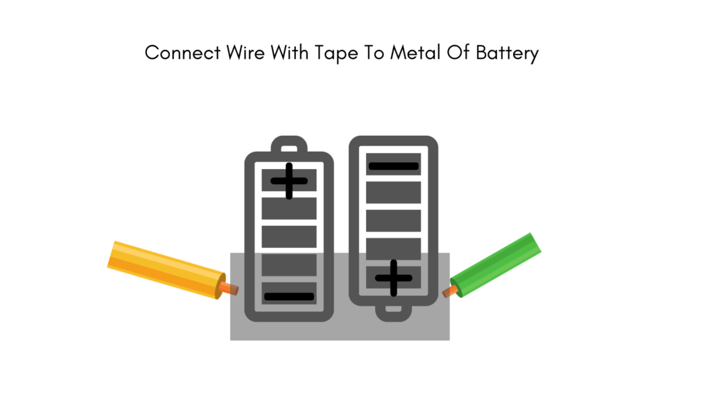 electric circuit connect wires with battery