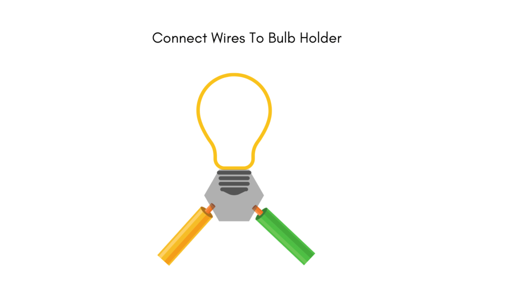 Electric circuit connect with bulb holder