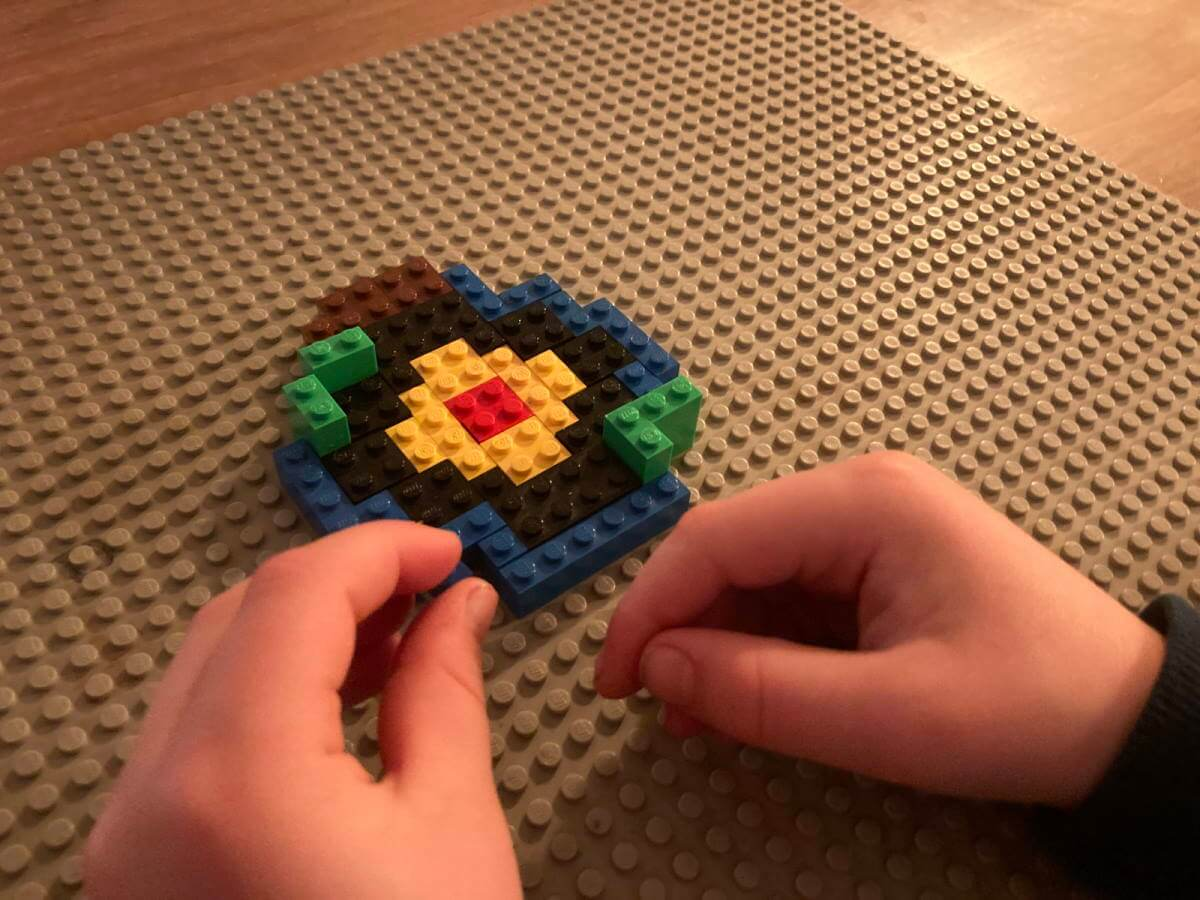 LEGO Layers of the Earth flat model