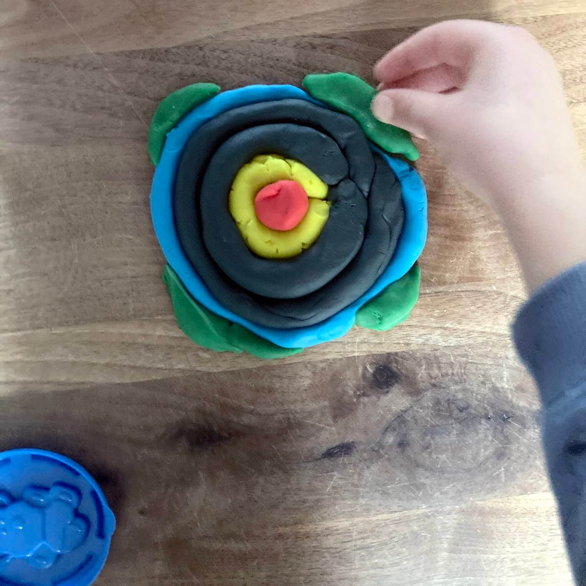 Play Dough Layers Of The Earth Flat Model